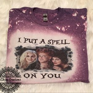 I put a spell on you Hocus Pocus Bleached Shirt